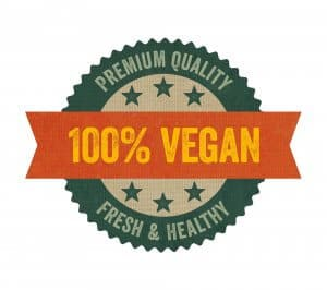 Label with the text vegan